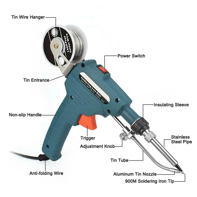 Tools : Auto Feeding Soldering Tool Manual Electric Soldering Iron Set Solder Tin LB88