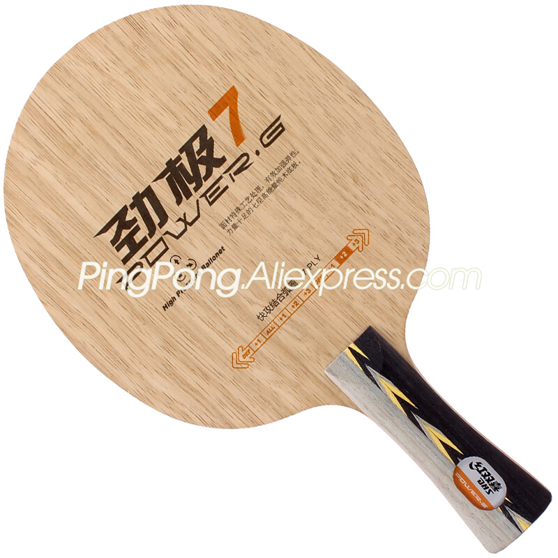 DHS POWER-G 7 / PG 7 (Ship Without Box) DHS PG7 RACKET Table Tennis Blade Original DHS Ping Pong Bat / Paddle