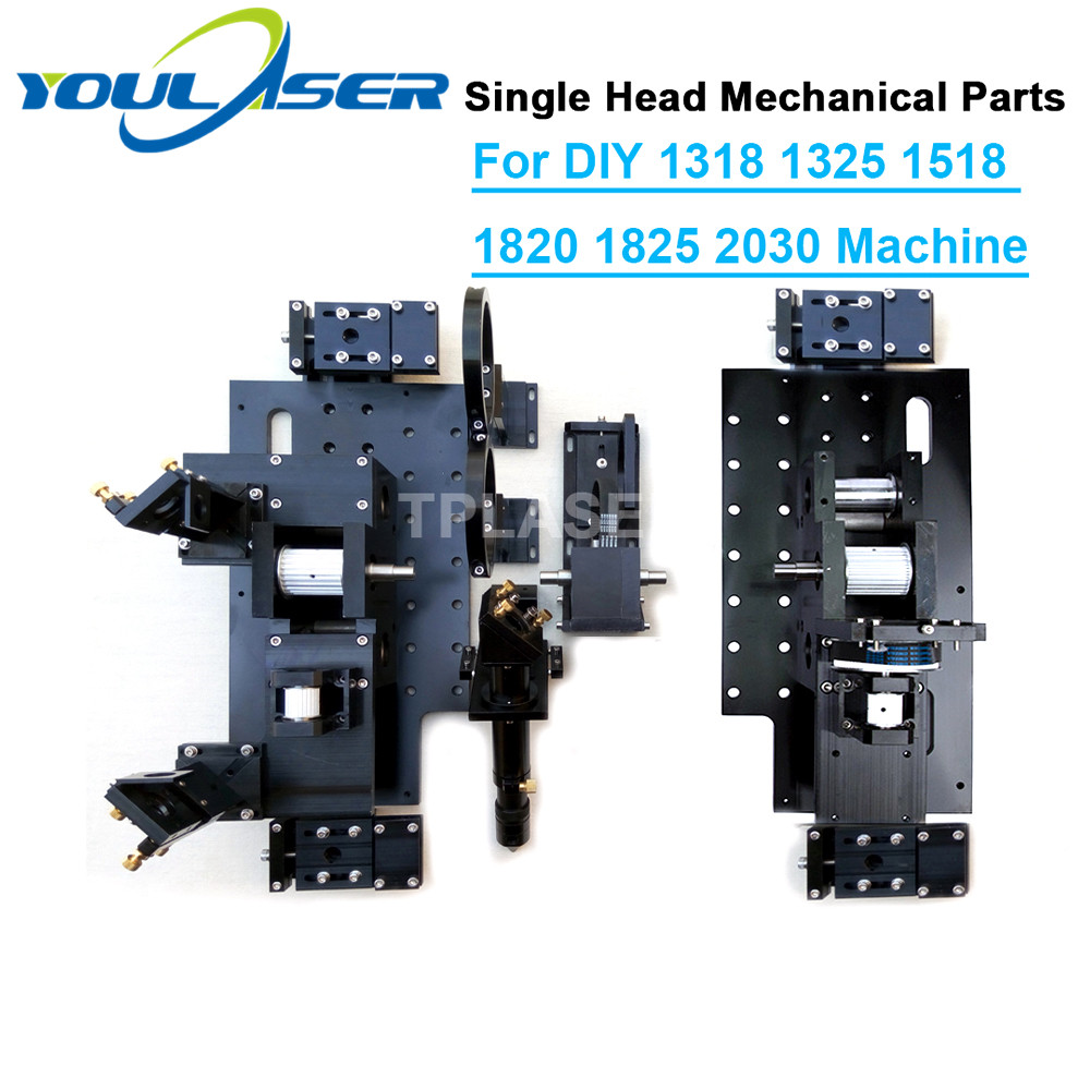Single Head Laser Mechanical Components For DIY Large Format CO2 Cutting Engraving Machine 1318 1325 1518 1525 1820 1825 2030