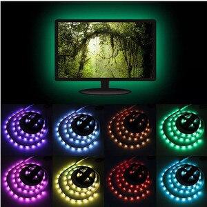 Image 5 - DC 5V USB TV Light Computer Screen Back Bias Tape Light SMD 5050 RGB LED TV Back Lighting With 44key IR Remote Control