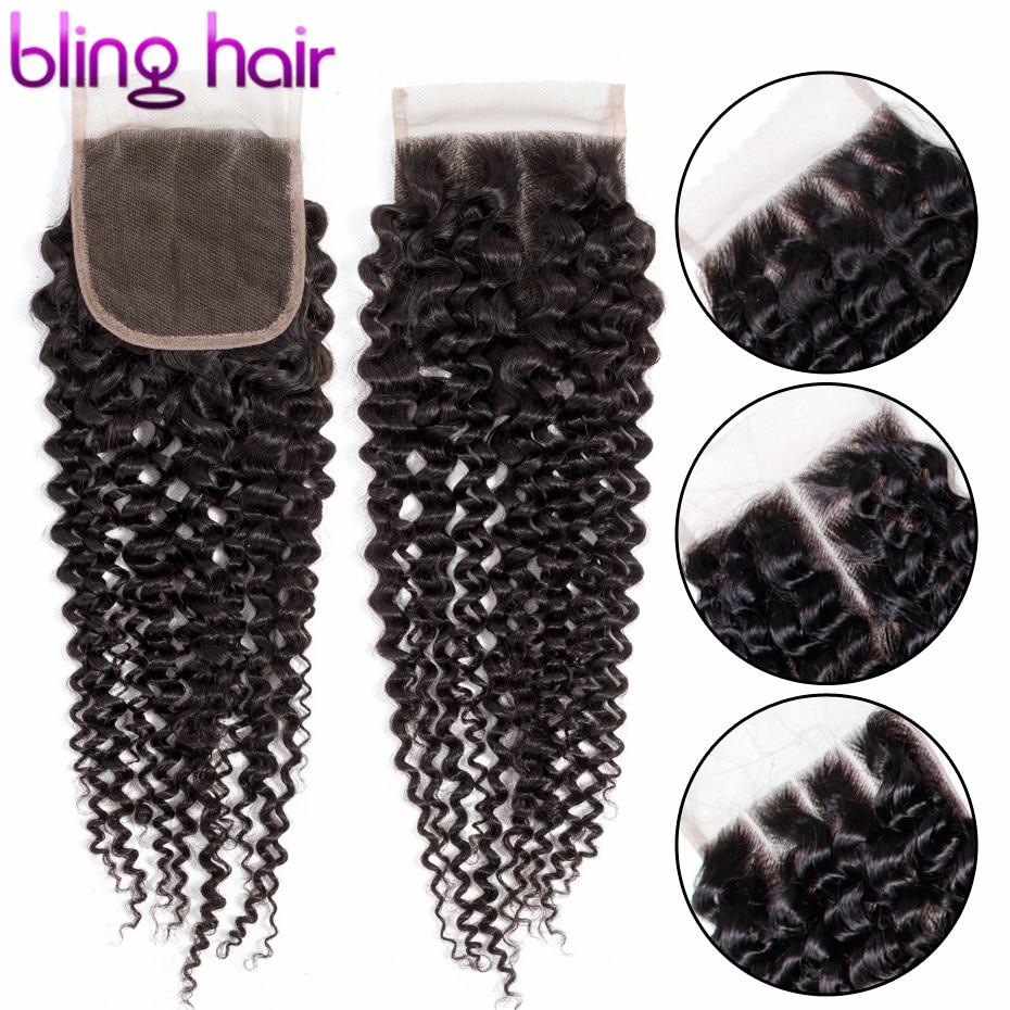 Шикарные волосы 4*4, кружевная застежка, Курчавые Кудрявые волосы, Детские волосы, средние, свободные, три части, бразильские, Remy человеческие...