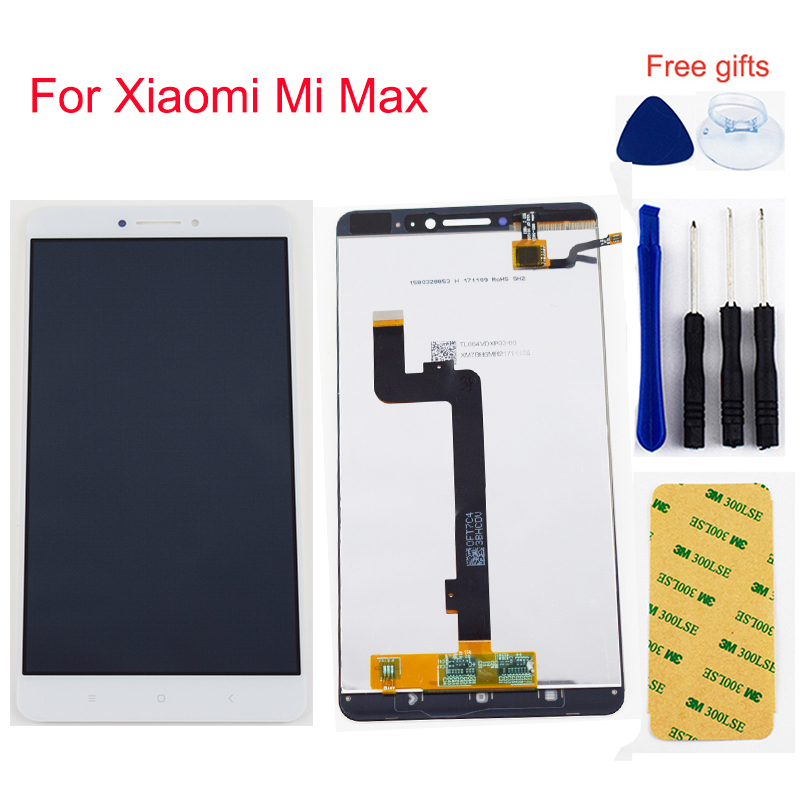 6.44 inch 3 Color For <font><b>Xiaomi</b></font> <font><b>Mi</b></font> <font><b>Max</b></font> LCD <font><b>Display</b></font> Monitor Panel For <font><b>Mi</b></font> <font><b>Max</b></font> Touch Screen Digitizer Sensor Panel Glass Assembly image