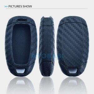 Image 5 - Karbon silikon araba anahtarı durum için Hyundai Elantra GT Kona 2018 2019 Santa Fe Veloster akıllı uzaktan Fob kapak koruyucu anahtar çantası