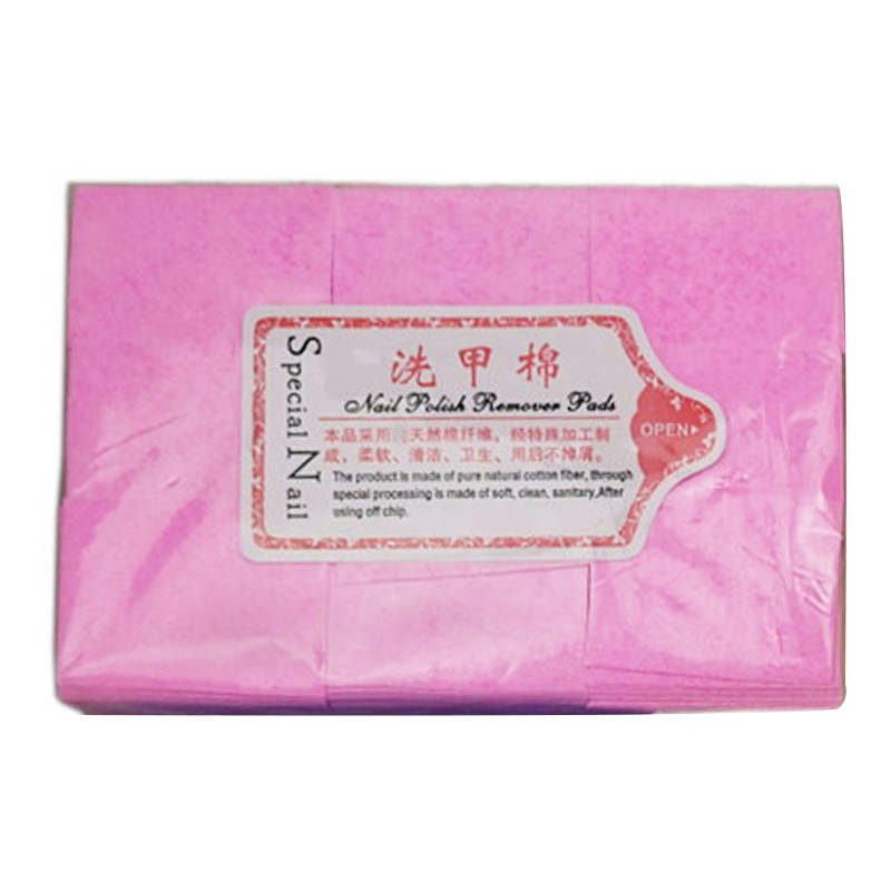 Pink 600 Nail Tools Nail <font><b>Polish</b></font> Remover Lint-Free Wipes <font><b>Cleaner</b></font> Paper <font><b>Pad</b></font> Remover Nails Wipes Nail Clean Wipe Cotton Manicure To image