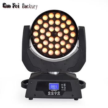 Pro Inno kolor LED Zoom umyć 36X18W RGBWA + UV ruchoma głowica lira wiązki profesjonalne światła dj-skie na scenie tanie i dobre opinie Hong Yi Stage Lighting Rohs CN (pochodzenie) Efekt oświetlenia scenicznego Oświetlenie sceniczne DMX 36*18w HY-3618 90-240 V