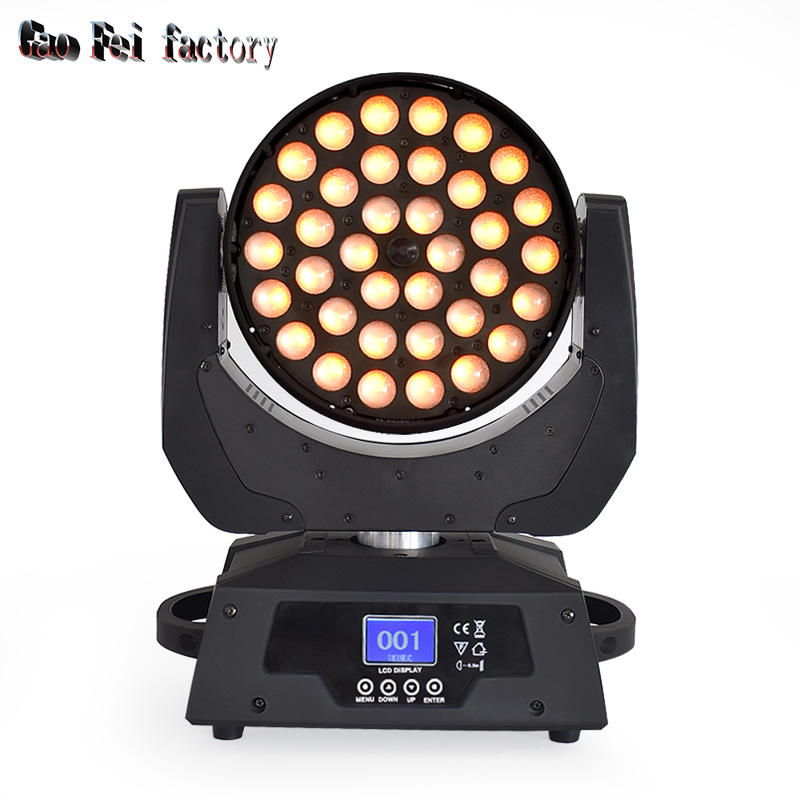 Pro Inno Color Beam 36x18W RGBWA +UV LED Moving Head Wash With 15-45 Degree Zoom And Color Wash Effect For Stage