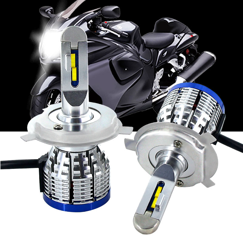 1X H4 HB2 9003 H7 4800lm White Led Headlight Bulb Hi/Lo Beam Car Motorcycle Front Head Fog Driving Lamp Lighting Scooter Light