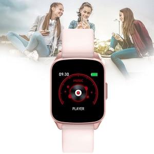 Image 4 - KW17 2020 mężczyźni kobiety inteligentny zegarek IP68 dzieci zegar pulsometr pomiar podczas snu Smartwatch opaska monitorująca aktywność fizyczną dla IOS Android