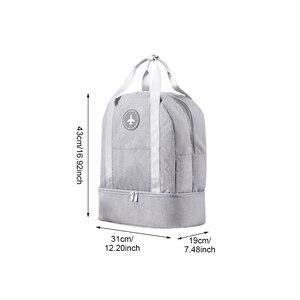 Image 2 - Borsa di Viaggio dei bagagli ouble Strati di Disegno Vestiti di Stoccaggio Scarpe Borsa Da Viaggio Reggiseno della Biancheria Intima Del Sacchetto di Archiviazione Portatile Impermeabile Zip Pouch