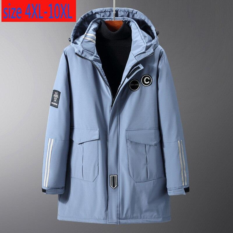 New Arrival Fashion Long Men Extra Large Loose Padded Jacket Casual Thick Men Winter Coat Plus Size 4XL 5XL 6XL 7XL 8XL 9XL 10XL