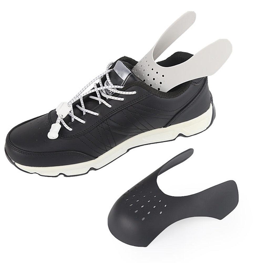 1Pair Shields for Sneaker Anti Crease Wrinkled Fold Shoe Support Toe Cap Sport Ball Shoe Head Stretcher Universal Sneaker Shield