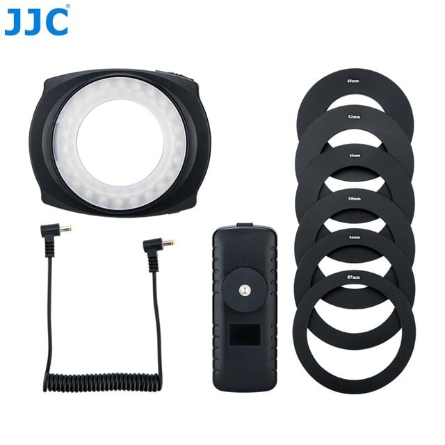 JJC DSLR Camera Flash Video Speedlite Inside Outside Half Whole LED Macro Ring Light for NIKON CANON SONY Fuji Olymous Panasonic