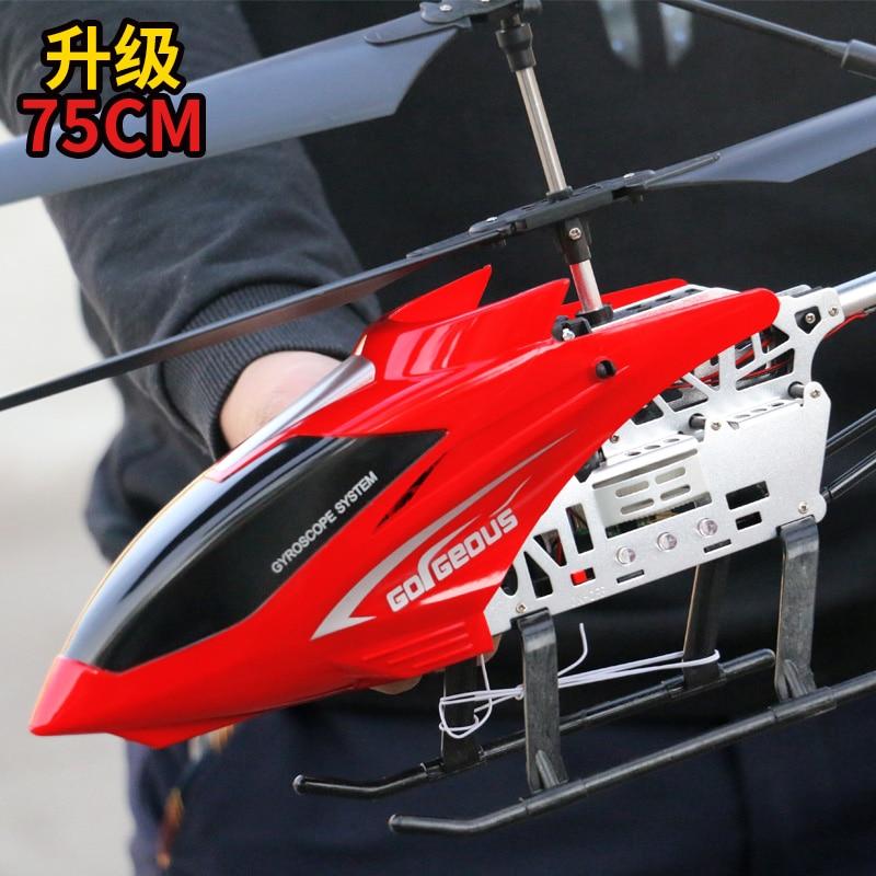 3,5ch 80 см супер большой вертолет с дистанционным управлением летательный аппарат с защитой от падения Радиоуправляемый вертолет зарядка игрушка Дрон модель БПЛА уличная Летающая модель 5