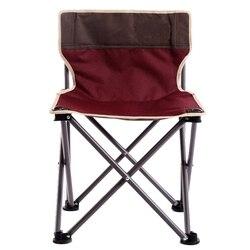 Outdoor Portable Leisure składane krzesło grube aluminiowe krzesło wędkarskie Camping Beach grill krzesło samonapędzające krzesło (czerwone) Krzesełka wędkarskie Sport i rozrywka -