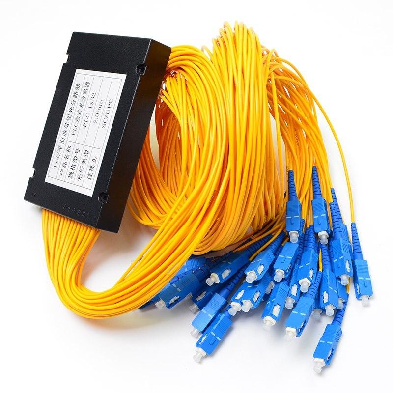 Fiber Optical PLC Splitter Box 1x32 SC/UPC Connector 2.0mm 1m 1 Year Warranty