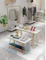 Clothing store display table, running water table, golden display table, shoes, bag rack, rack, women's store display stand, sim