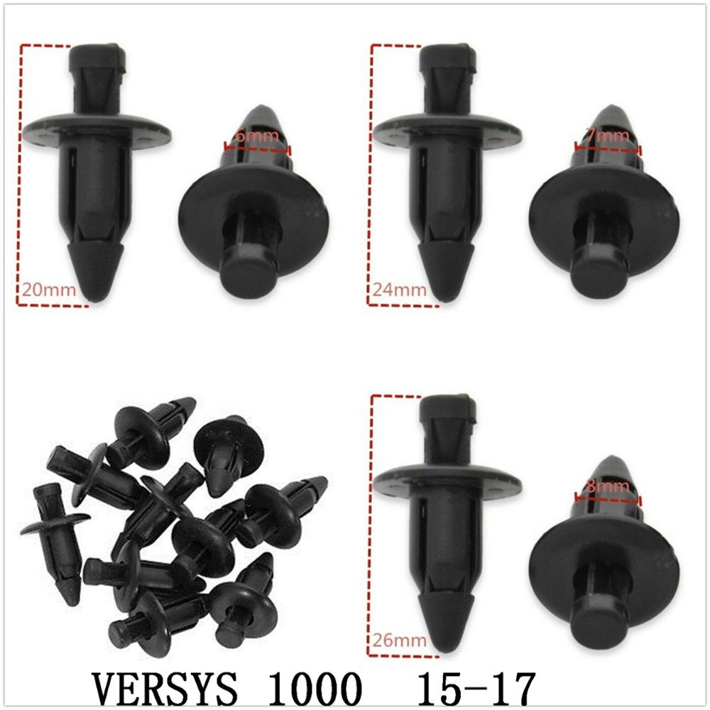 Fairing Bolts Kit Bodywork Plastic Expansion Screw Spike Bolts Nuts Fit For   Kawasaki    VERSYS 1000   2015-2017