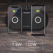 2 in 1 Dual 10W Qi Wireless Charger for iPhone Xs Max XR X 8 Fast Wireless Charging Pad Phone Charger for Samsung S9 S8 Airpods