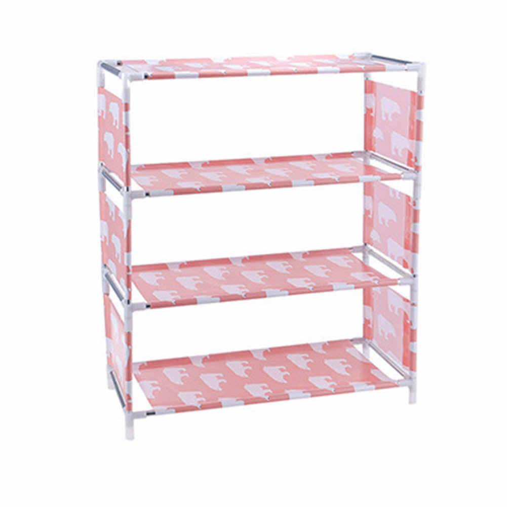 3/4 niveaux Non tissé étagère à chaussures maison Hall organisateur bricolage armoire de rangement étagère