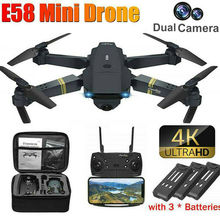 E58 WIFI FPV With Wide Angle HD 4K Single/Dual Camera Hight Hold Mode Foldable Arm RC Quadcopter Drone X Pro RTF Drone