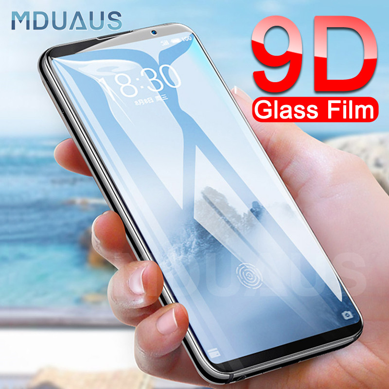 9D verre de protection sur le pour Meizu 16 e 16X Plus Meizu 16S X8 M8 Note 8 9 Pro 7 étui de protection d'écran en verre trempé