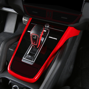 (Only Fit For European Car Model) Interior Central Console Gear Box Cover Trim U Shape ABS 3pcs For Porsche Cayenne 2018 2019
