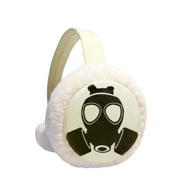 PM2.5 Skeleton Pollution Gas Mask Winter Earmuffs Ear Warmers Faux Fur Foldable Plush Outdoor Gift