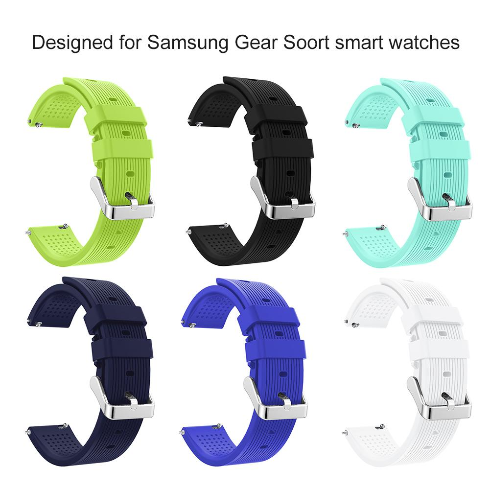 2019 Newest High Quality  20mm Replacement Sport Silicone Strap Band For Samsung Gear Smart Watch