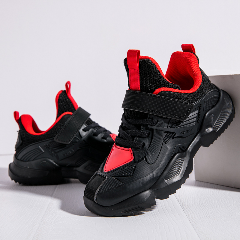 SKHEK 2019 Autumn Children Sports Shoes Boys Breathable Running Sneakers Kids Outside Travelling Leather Shoes Size