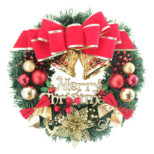 Image 4 - 30cm Christmas Wreath Door Hanging Christmas Decorations Simulation Flowers Window Props Background Christmas Tree Accessories