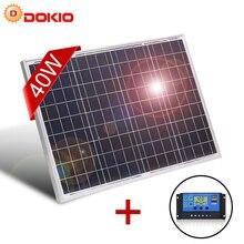 DOKIO 18V 40W polikrystaliczny Panel słoneczny 460*660*25mm Silicon Power Painel najwyższej jakości bateria słoneczna chiny Solar fotovoltaire