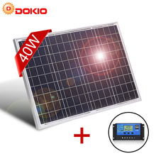 DOKIO Panel Solar policristalino de alta calidad, de 18V y 40W Panel Solar Fotovoltaico, 460x660x25mm