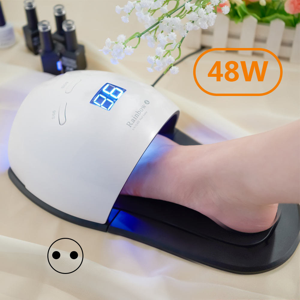 General Goods European Standard British Standard LED Nail Lamp Hands And Feet Combined 48W Light Treatment UV
