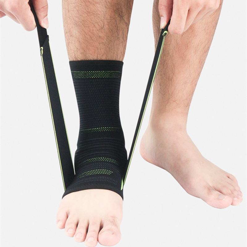 ZYSK 1 Pcs Sport Safety Ankle Support Gym Running Football Ankle Protector Black Foot Bandage Elastic Ankle Brace Band Protect