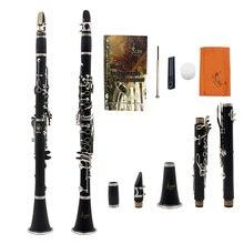 LADE ABS 17 ключ кларнет bB плоский сопрано бинокулярный кларнет с чистящей тканью перчатки отвертка Рид Чехол деревянный ветер инструм