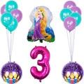 1 комплект Disney тема принцесса Фольга воздушные шары День рождения украшения с длинными волосами принцесса гелий Globos Baby Shower Детские игрушки ...