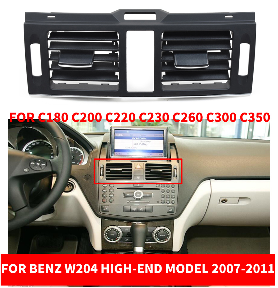 LHD RHD <font><b>W204</b></font> Console Central Middle Air Conditioner AC Vent <font><b>Grille</b></font> For <font><b>Benz</b></font> C- Class C180 C200 C220 C230 C260 C300 C350 07-2011 image