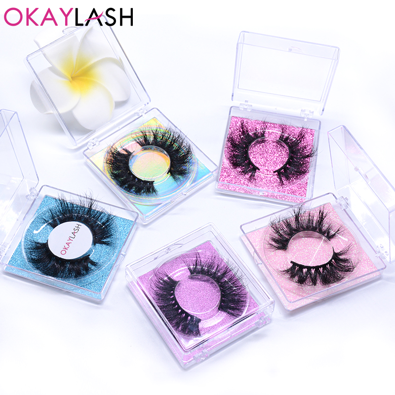 OKAYLASH 25mm 1pair/case  False 8D Mink Eyelashes 2020 Newest Style Crisscross Long Fake Eye Lash Makeup