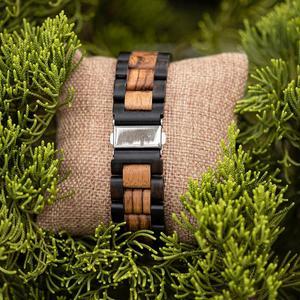 Image 5 - ボボ鳥ウッド腕時計メンズクルミ黒檀木製ストラップクォーツ腕時計男性 erkek kol saati 御代田ギフトレロジオ masculino