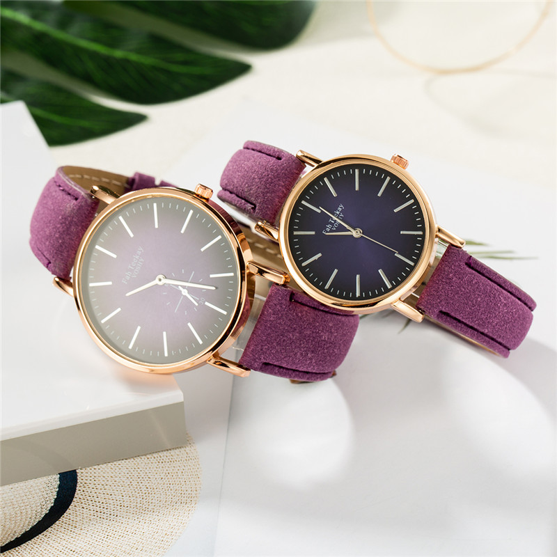 WJ-8738 Leather Lover's Watches Simple Couple Watch Gifts For Men Women Clock Reloj Mujer Ladies Male Quartz Wristwatch Hombre