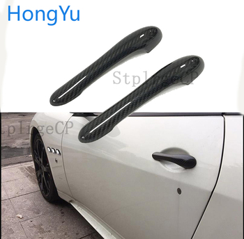 For Maserati GranTurismo S MC GT GTS Coupe 2DOOR Exterior Carbon Fiber Made Door Handle Cover Sticker Decorations Overlay Trim image