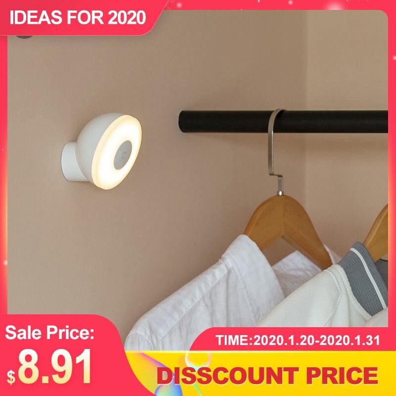 MJYD02YL Night Light 2 Generation Adjustable LED Brightness Infrared Smart Human Body Sensor With Magnetic Base Lamp