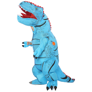 Image 4 - T REX Inflatable Dinosaur Costume for Adult Kids Men Women Halloween Costume Dino Cosplay  Cartoon Anime Party