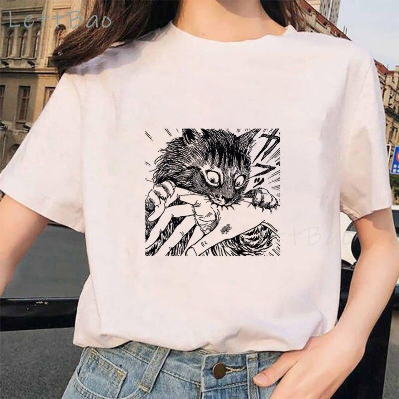 Tomie Junji Ito T-Shirt Women Men Unisex Cartoon Design Tee Shirt Homme Summer Tops Short Sleeve Vogue Vintage Style Anime Shirt(China)