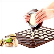 Silicone macaron macaroon forno de pastelaria cozimento molde folha esteira 30-cavidade diy molde de cozimento esteira ferramentas úteis