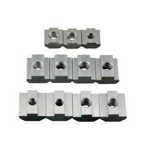 T Block Square nuts T-Track Sliding Hammer Nut M3 M4 M5 M6 for Fastener Aluminum Profile 2020 3030 4040