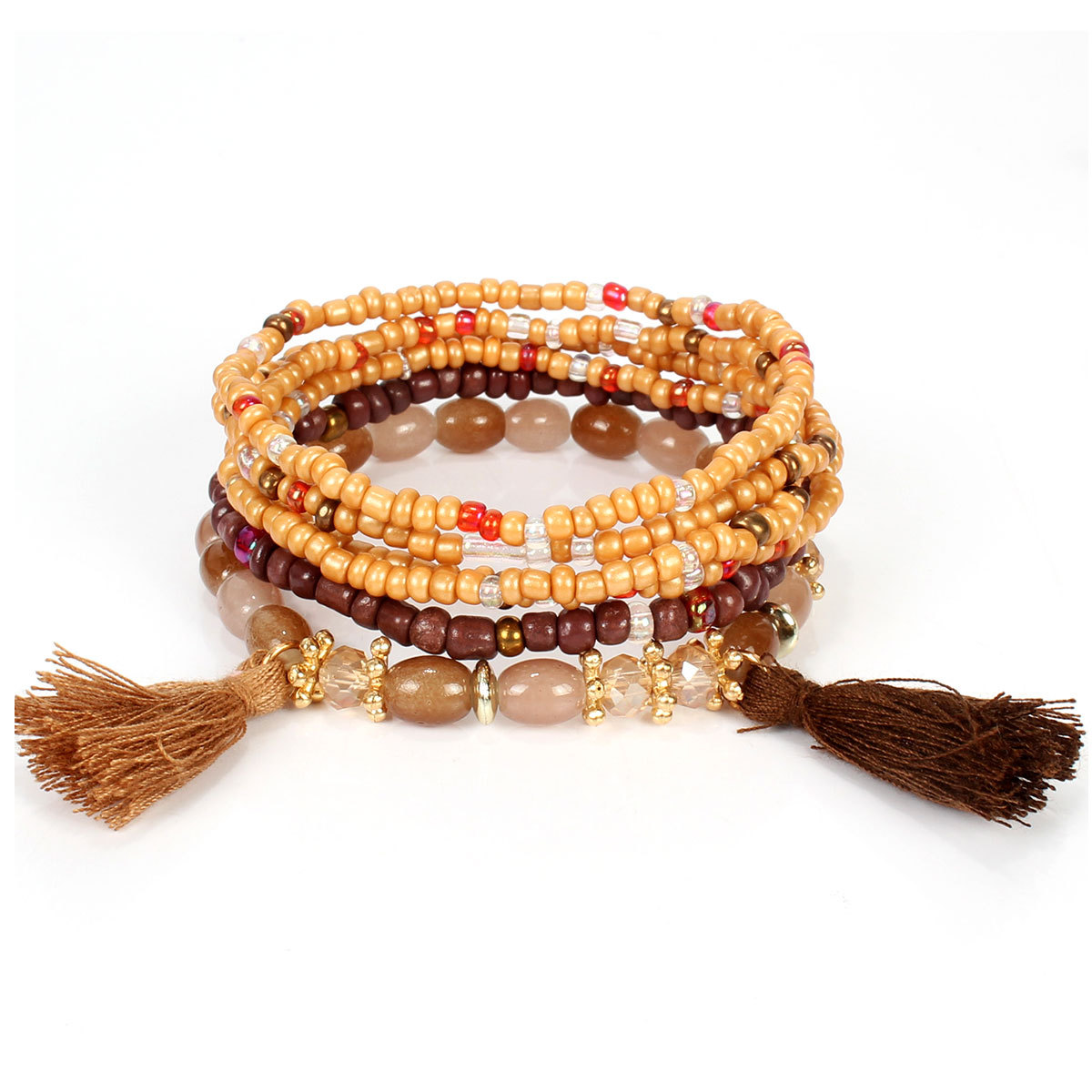 2020 Europe And America Bohemian Style Multilayer Bead Tassels Bracelets Natural Stone Bracelet Pearl Bracelet Charm Bracelets Aliexpress