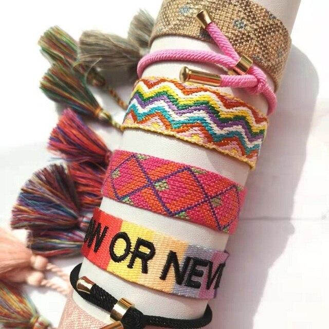 NEW Women Men Charm Bracelet Friendship Bracelets Handmade Braided Bangle Adjustable Length Fit All Wrists|Charm Bracelets|   -