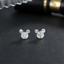 Милые круглые серьги «Микки Маус» женские очаровательные гвоздики