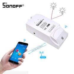 Беспроводной смарт-выключатель SONOFF, 2 канала, Wi-Fi светильник 220 В, таймер «сделай сам», релейный модуль для умного дома, 15 А, для Google Home Alexa